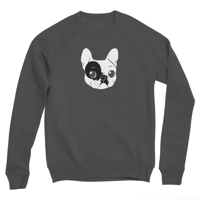 Single Hooded Pied French Bulldog Puppy Men's Sponge Fleece Sweatshirt by Emotional Frenchies - Cute French Bulldog T-shirts