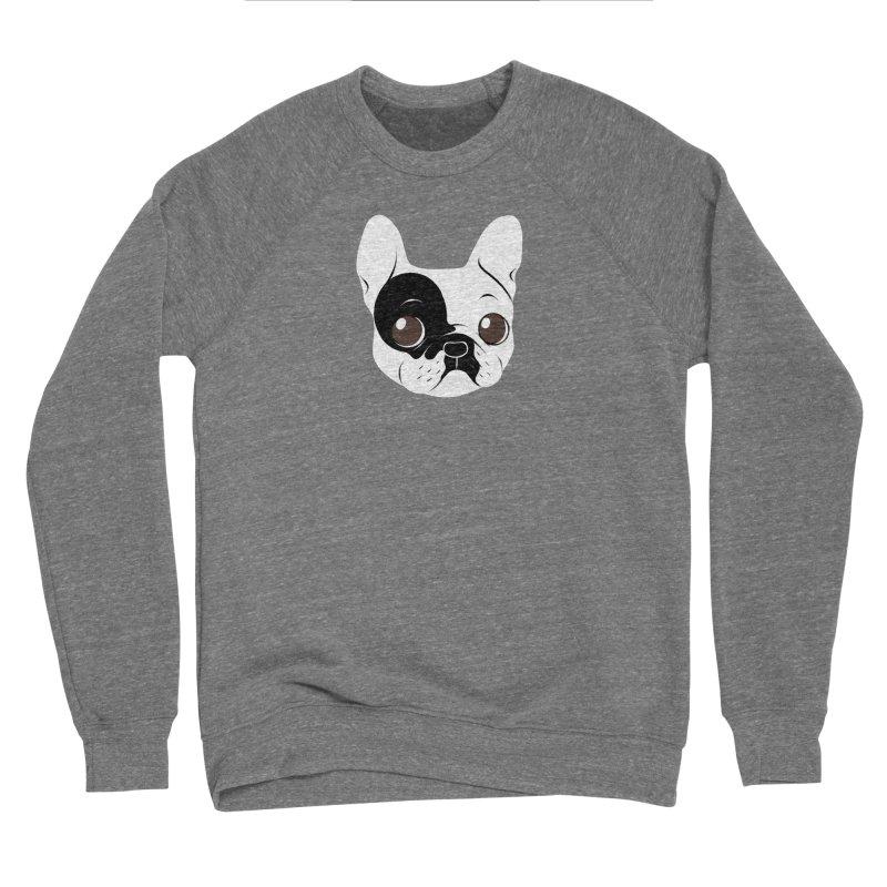 Single Hooded Pied French Bulldog Puppy Men's Sponge Fleece Sweatshirt by Emotional Frenchies - Cute French Bulldog T-shirts