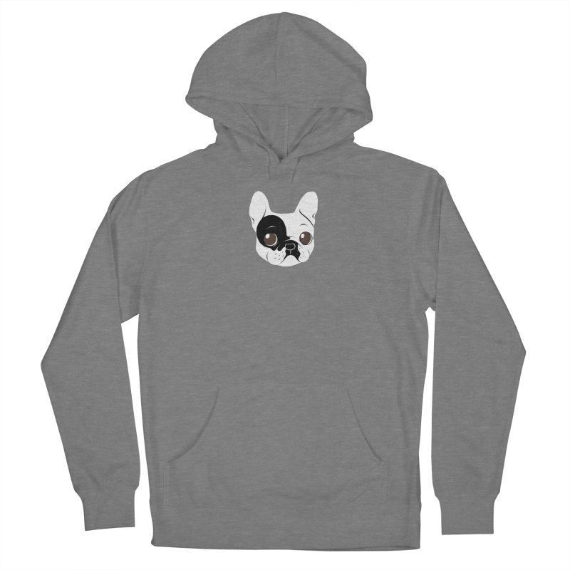 Single Hooded Pied French Bulldog Puppy Women's Pullover Hoody by Emotional Frenchies - Cute French Bulldog T-shirts