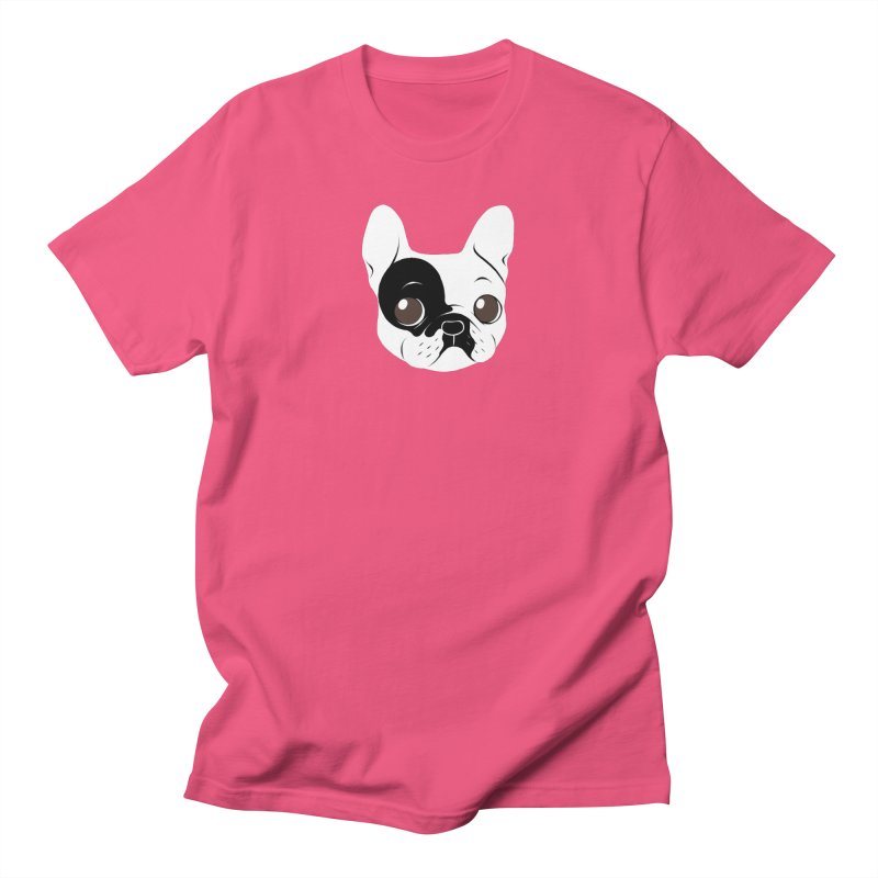 Single Hooded Pied French Bulldog Puppy Women's Regular Unisex T-Shirt by Emotional Frenchies - Cute French Bulldog T-shirts