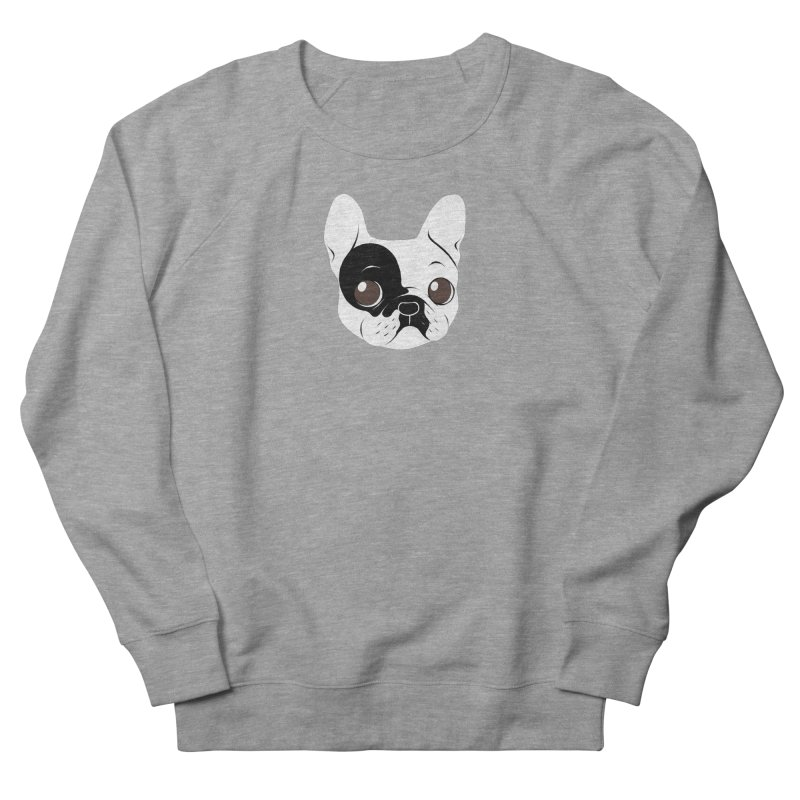Single Hooded Pied French Bulldog Puppy Women's French Terry Sweatshirt by Emotional Frenchies - Cute French Bulldog T-shirts