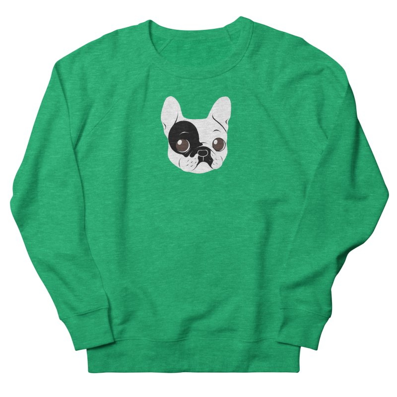 Single Hooded Pied French Bulldog Puppy Men's French Terry Sweatshirt by Emotional Frenchies - Cute French Bulldog T-shirts