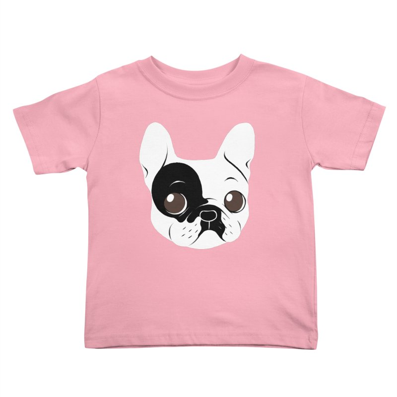Single Hooded Pied French Bulldog Puppy Kids Toddler T-Shirt by Emotional Frenchies - Cute French Bulldog T-shirts