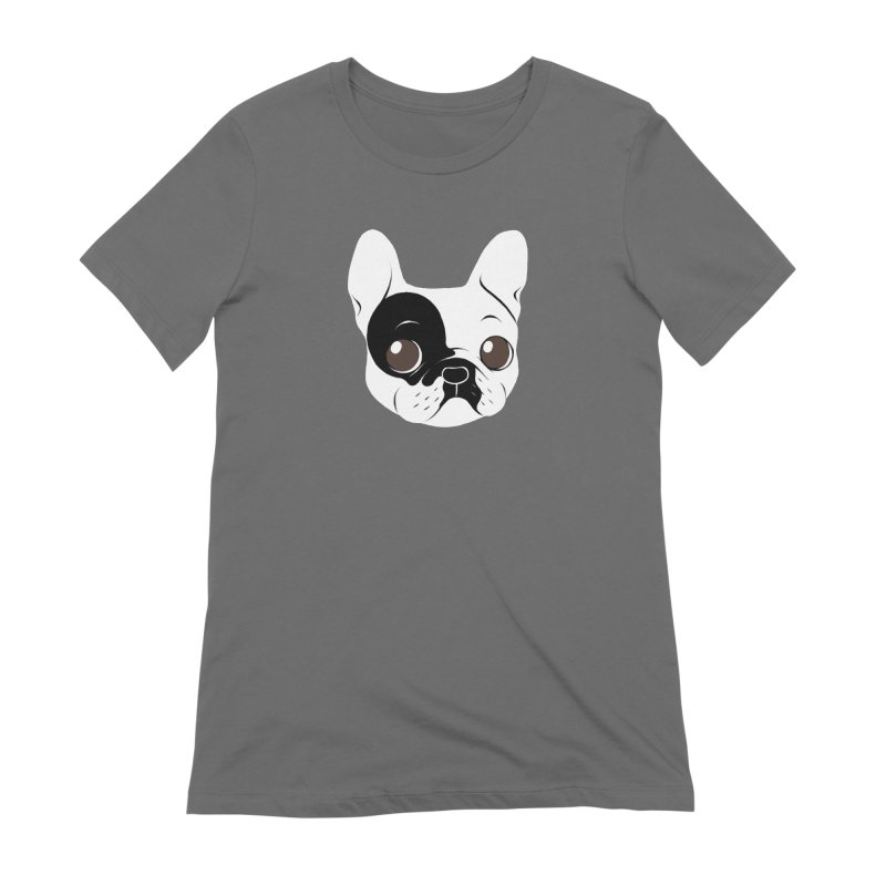 Single Hooded Pied French Bulldog Puppy Women's T-Shirt by Emotional Frenchies - Cute French Bulldog T-shirts