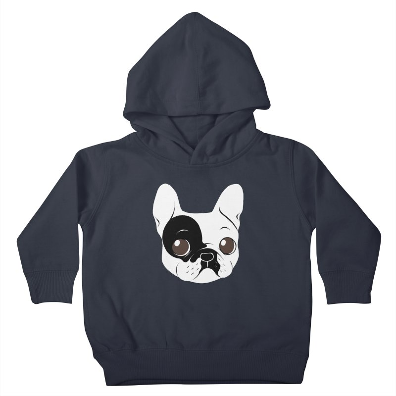 Single Hooded Pied French Bulldog Puppy Kids Toddler Pullover Hoody by Emotional Frenchies - Cute French Bulldog T-shirts