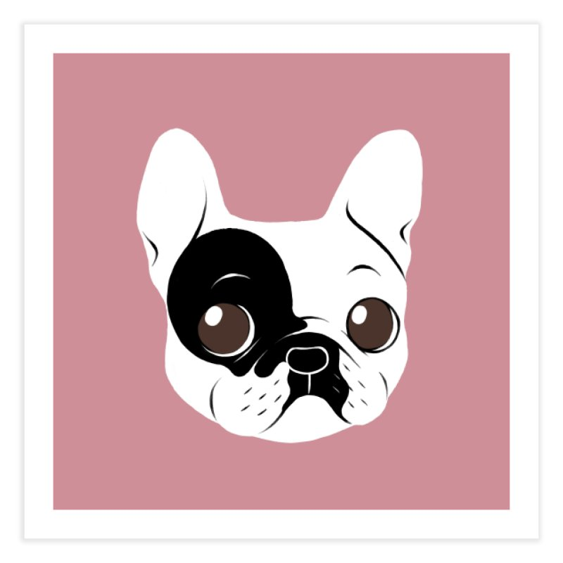 Single Hooded Pied French Bulldog Puppy Home Fine Art Print by Emotional Frenchies - Cute French Bulldog T-shirts