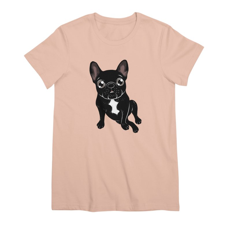 Cute brindle Frenchie is your best friend Women's Premium T-Shirt by Emotional Frenchies - Cute French Bulldog T-shirts