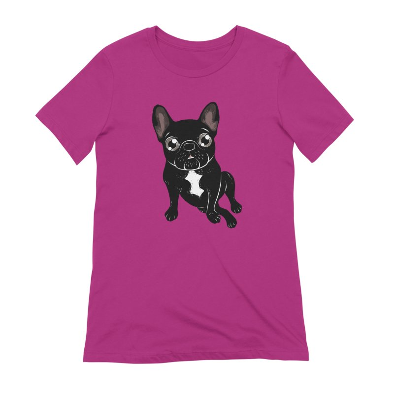 Cute brindle Frenchie is your best friend Women's Extra Soft T-Shirt by Emotional Frenchies - Cute French Bulldog T-shirts