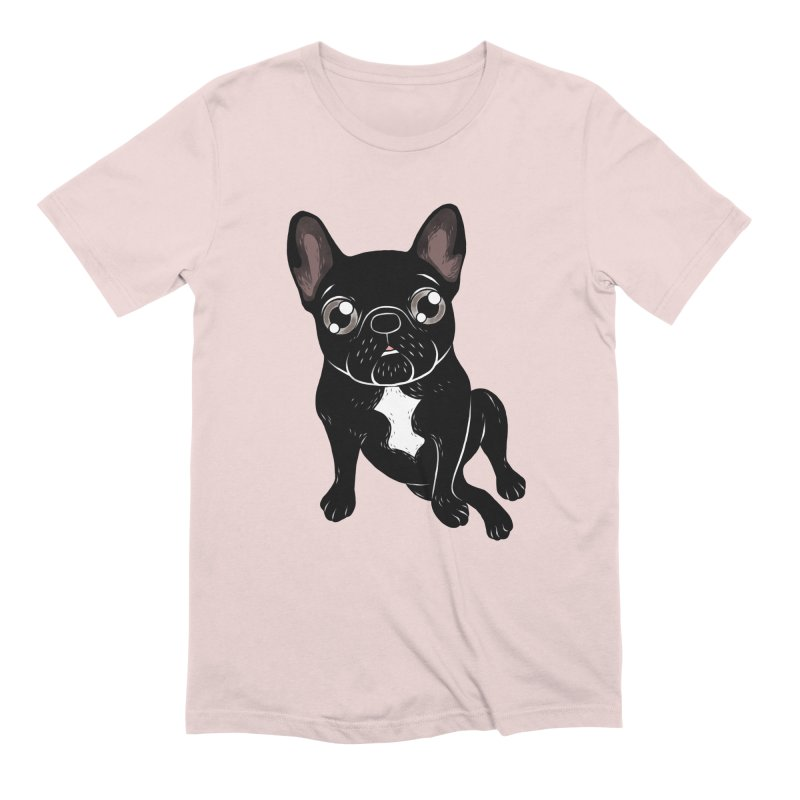 Cute brindle Frenchie is your best friend Men's Extra Soft T-Shirt by Emotional Frenchies - Cute French Bulldog T-shirts