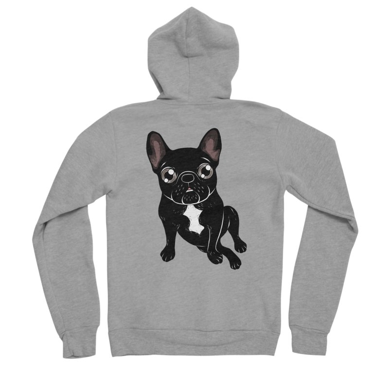 Cute brindle Frenchie is your best friend Women's Sponge Fleece Zip-Up Hoody by Emotional Frenchies - Cute French Bulldog T-shirts