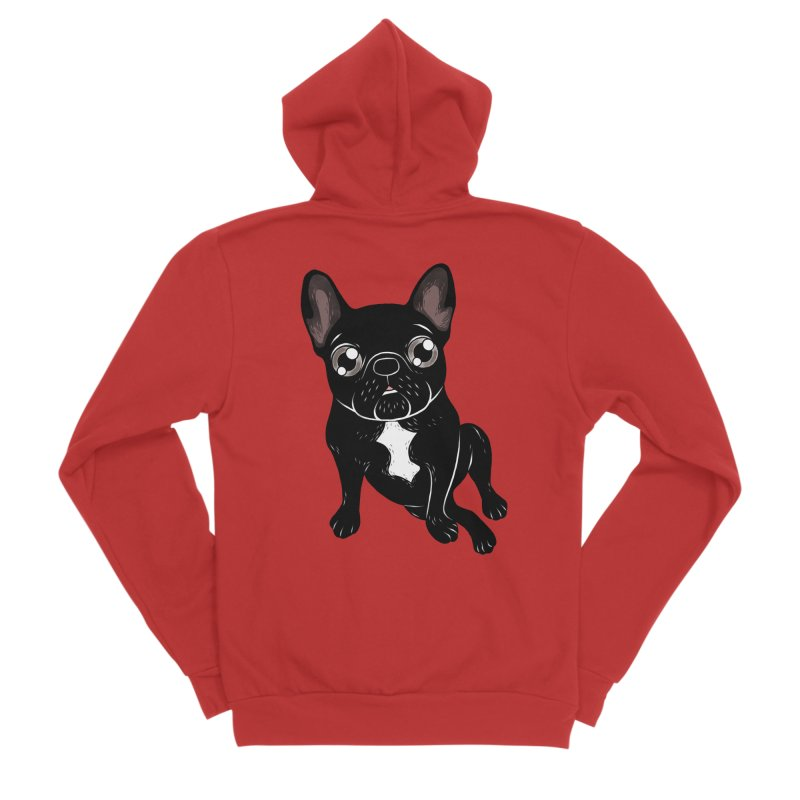 Cute brindle Frenchie is your best friend Men's Sponge Fleece Zip-Up Hoody by Emotional Frenchies - Cute French Bulldog T-shirts