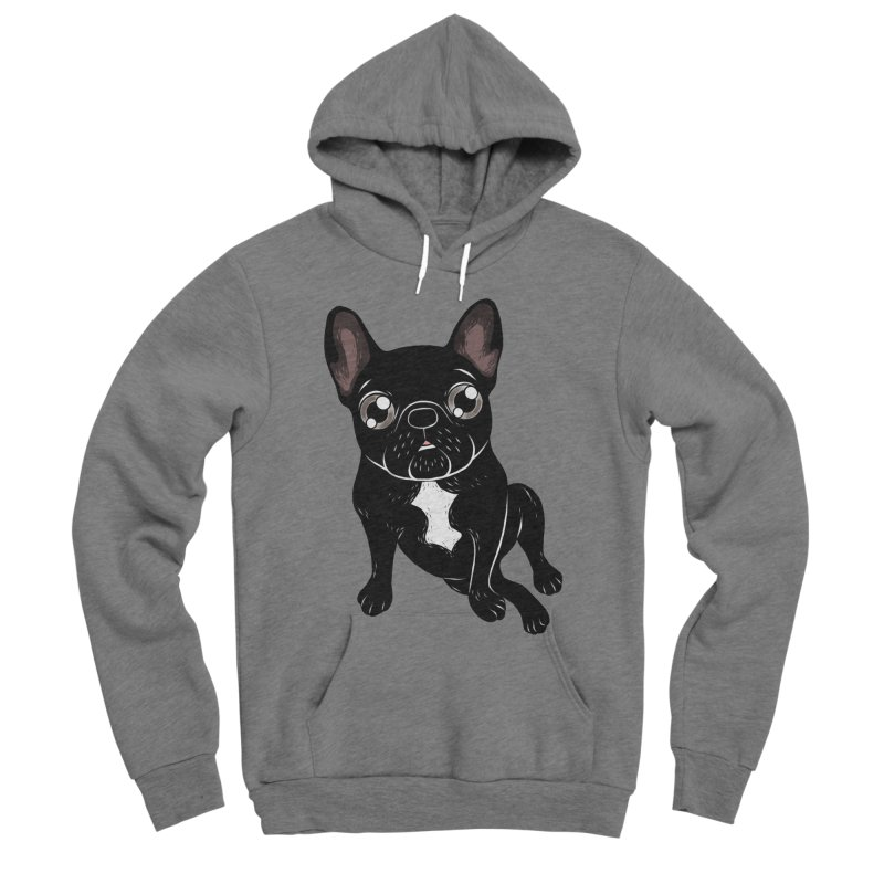 Cute brindle Frenchie is your best friend Women's Sponge Fleece Pullover Hoody by Emotional Frenchies - Cute French Bulldog T-shirts