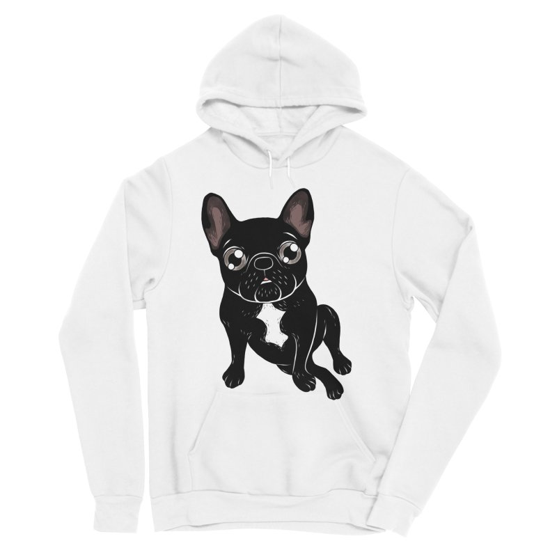 Cute brindle Frenchie is your best friend Men's Sponge Fleece Pullover Hoody by Emotional Frenchies - Cute French Bulldog T-shirts