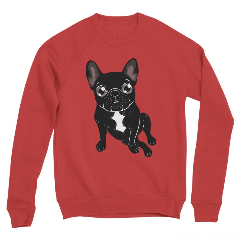 Cute brindle Frenchie is your best friend Men's Sponge Fleece Sweatshirt by Emotional Frenchies - Cute French Bulldog T-shirts
