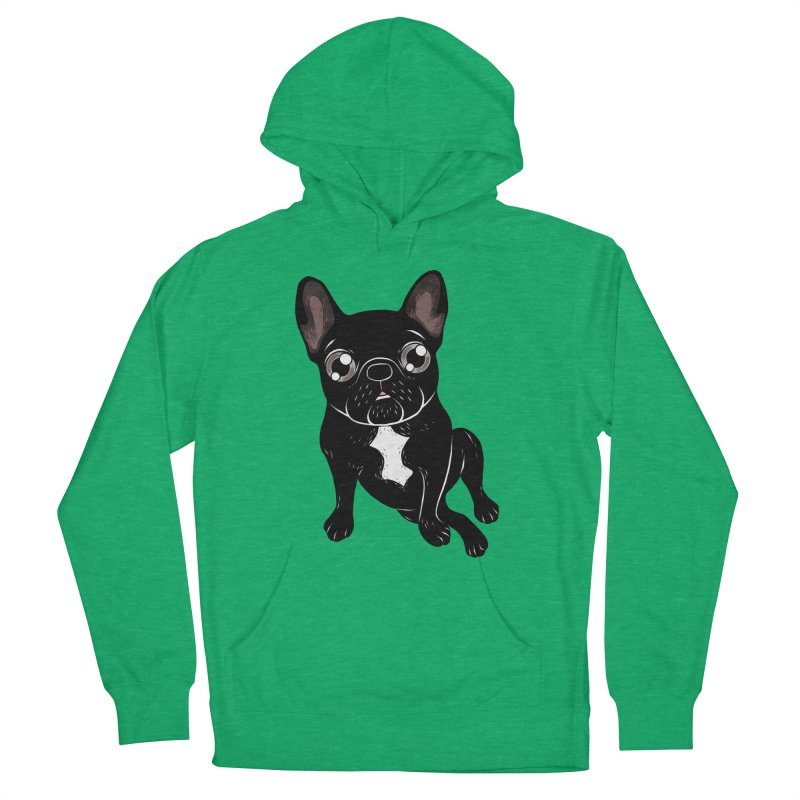 Cute brindle Frenchie is your best friend Women's French Terry Pullover Hoody by Emotional Frenchies - Cute French Bulldog T-shirts