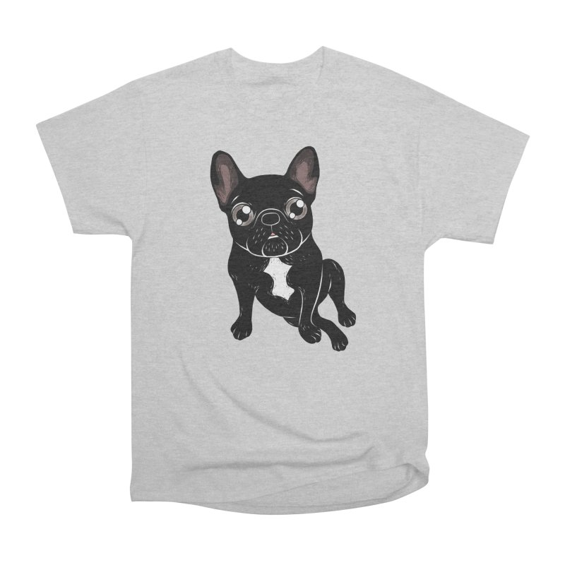 Cute brindle Frenchie is your best friend Women's Heavyweight Unisex T-Shirt by Emotional Frenchies - Cute French Bulldog T-shirts