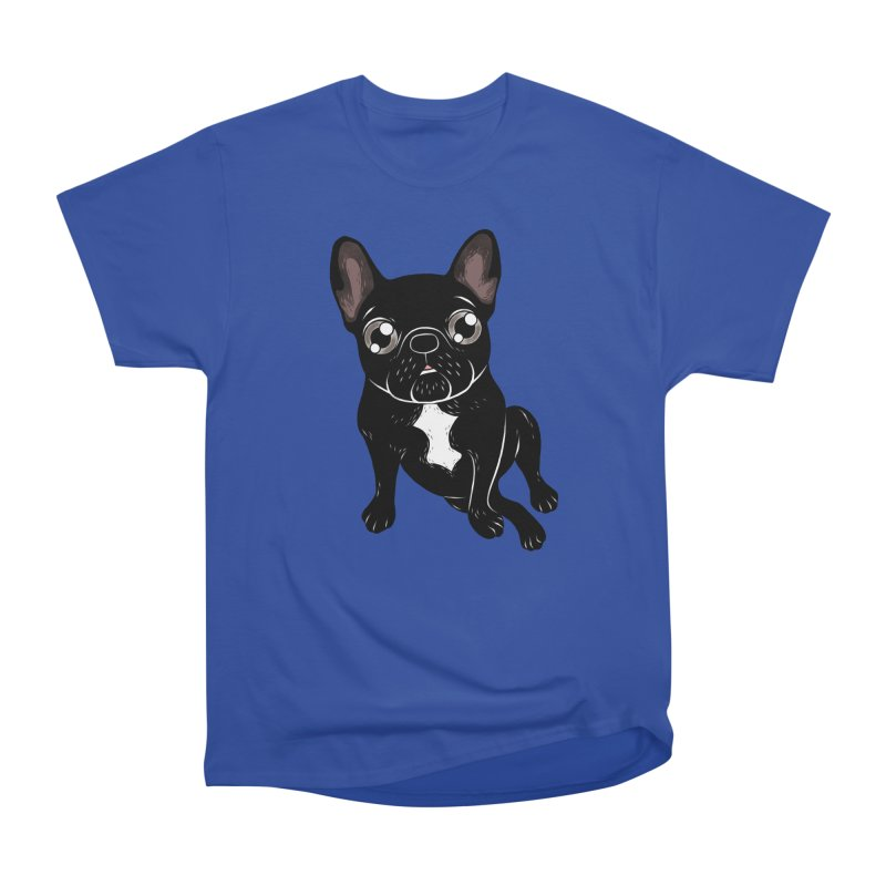 Cute brindle Frenchie is your best friend Men's Heavyweight T-Shirt by Emotional Frenchies - Cute French Bulldog T-shirts