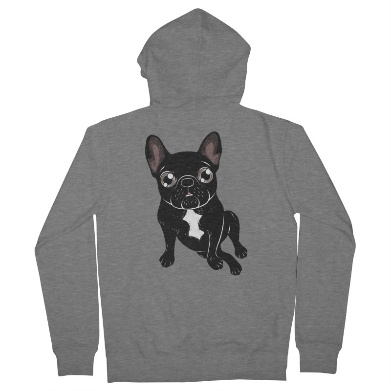 Cute brindle Frenchie is your best friend Women's Zip-Up Hoody by Emotional Frenchies - Cute French Bulldog T-shirts