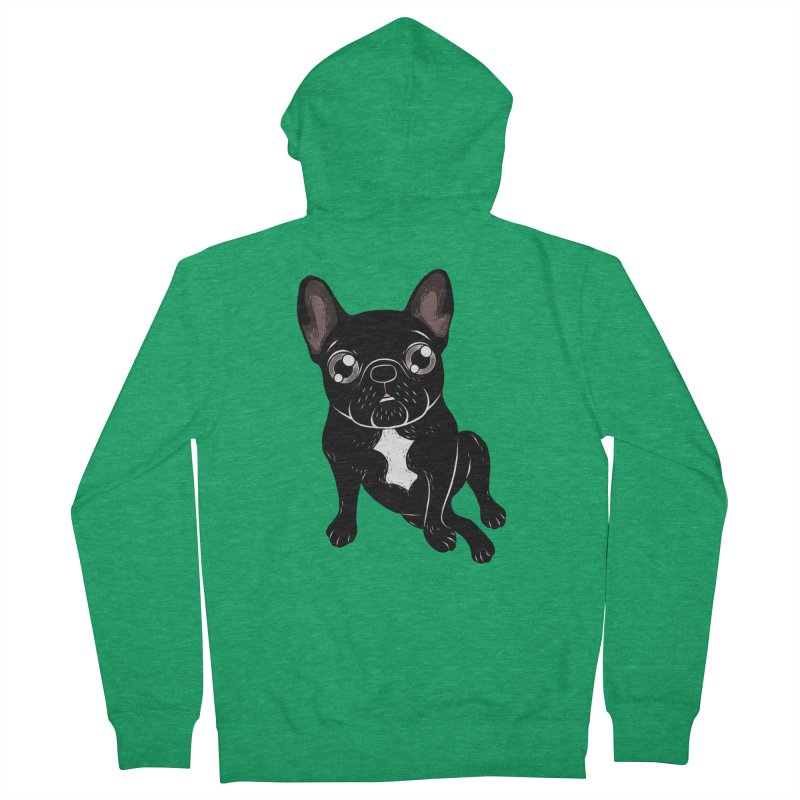 Cute brindle Frenchie is your best friend Men's Zip-Up Hoody by Emotional Frenchies - Cute French Bulldog T-shirts