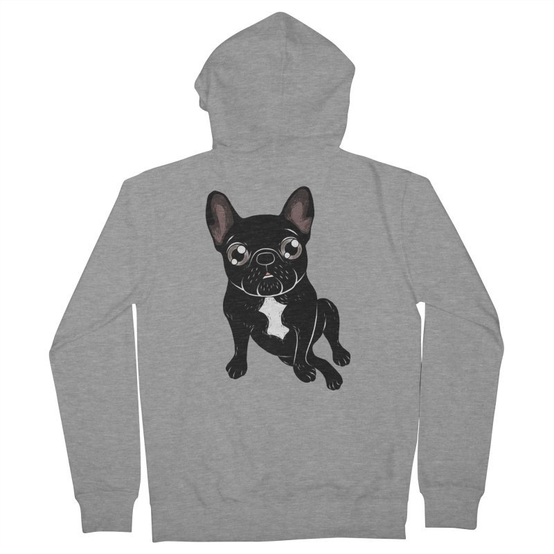Cute brindle Frenchie is your best friend Men's French Terry Zip-Up Hoody by Emotional Frenchies - Cute French Bulldog T-shirts