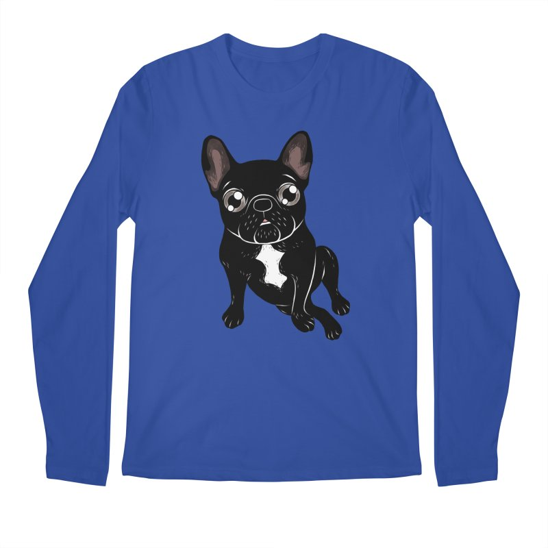 Cute brindle Frenchie is your best friend Men's Regular Longsleeve T-Shirt by Emotional Frenchies - Cute French Bulldog T-shirts