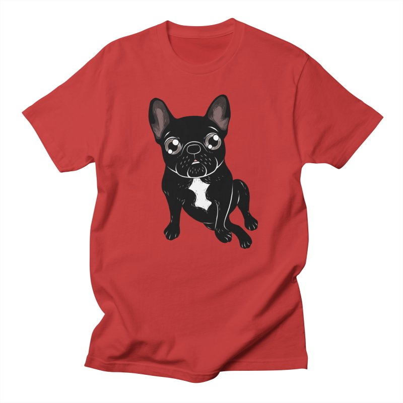 Cute brindle Frenchie is your best friend Women's Regular Unisex T-Shirt by Emotional Frenchies - Cute French Bulldog T-shirts