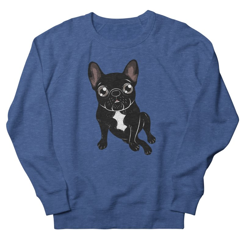 Cute brindle Frenchie is your best friend Women's French Terry Sweatshirt by Emotional Frenchies - Cute French Bulldog T-shirts
