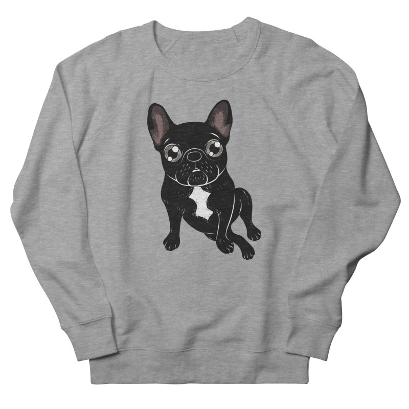 Cute brindle Frenchie is your best friend Men's French Terry Sweatshirt by Emotional Frenchies - Cute French Bulldog T-shirts
