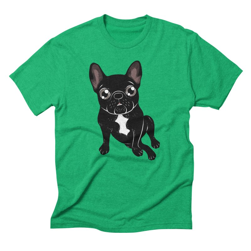 Cute brindle Frenchie is your best friend Men's Triblend T-Shirt by Emotional Frenchies - Cute French Bulldog T-shirts