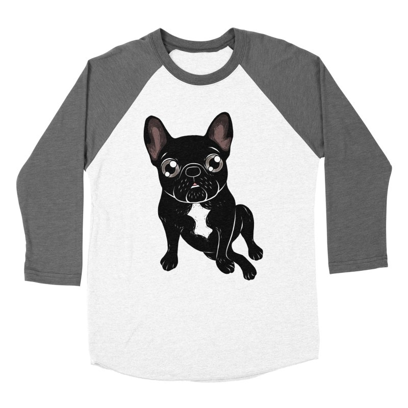 Cute brindle Frenchie is your best friend Women's Baseball Triblend Longsleeve T-Shirt by Emotional Frenchies - Cute French Bulldog T-shirts