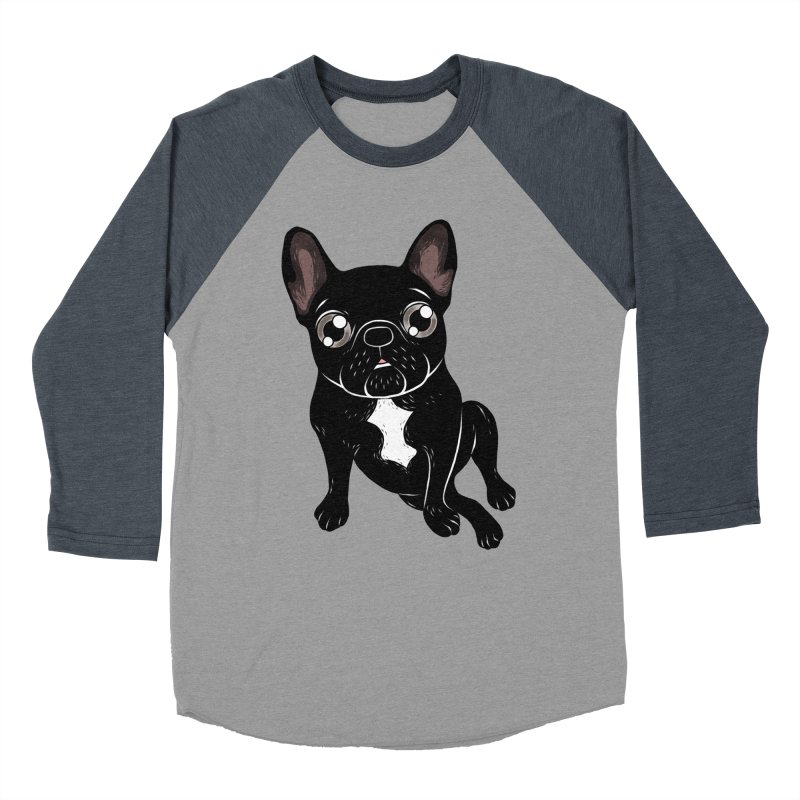 Cute brindle Frenchie is your best friend Men's Baseball Triblend Longsleeve T-Shirt by Emotional Frenchies - Cute French Bulldog T-shirts