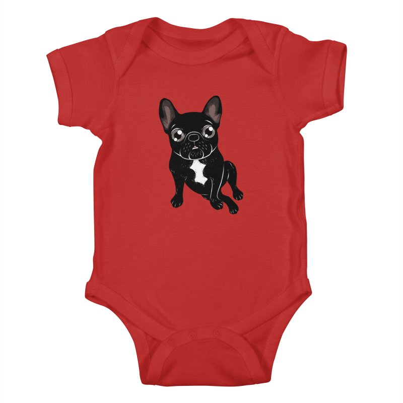 Cute brindle Frenchie is your best friend Kids Baby Bodysuit by Emotional Frenchies - Cute French Bulldog T-shirts
