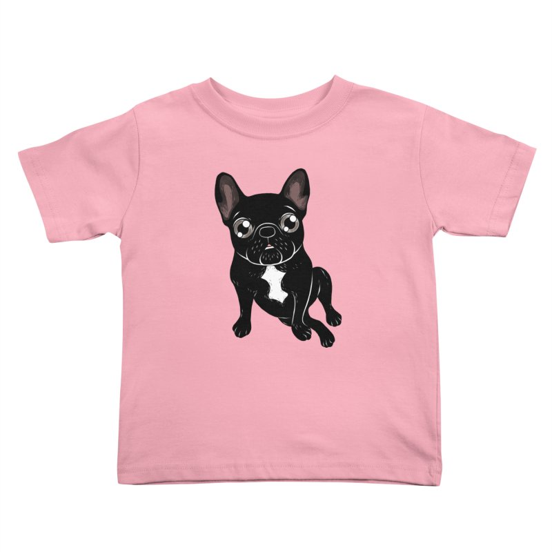 Cute brindle Frenchie is your best friend Kids Toddler T-Shirt by Emotional Frenchies - Cute French Bulldog T-shirts
