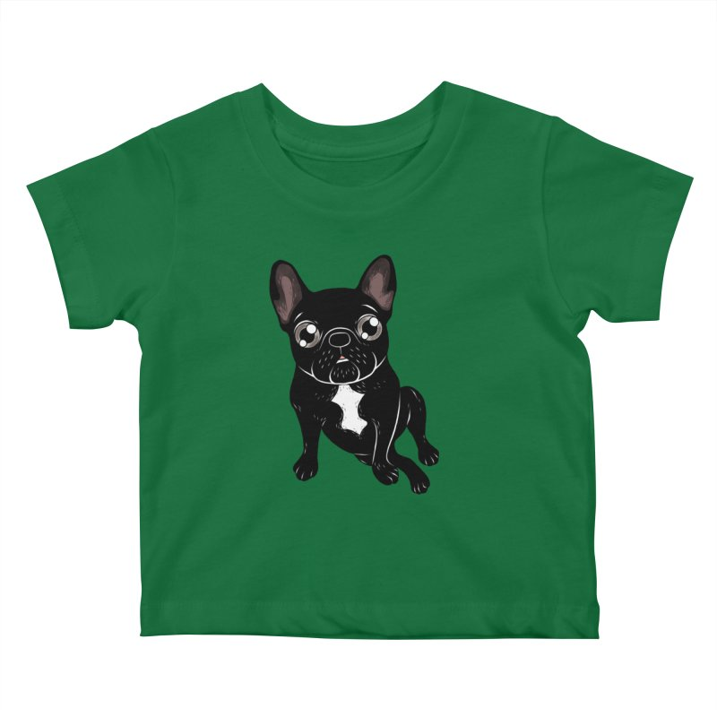 Cute brindle Frenchie is your best friend Kids Baby T-Shirt by Emotional Frenchies - Cute French Bulldog T-shirts