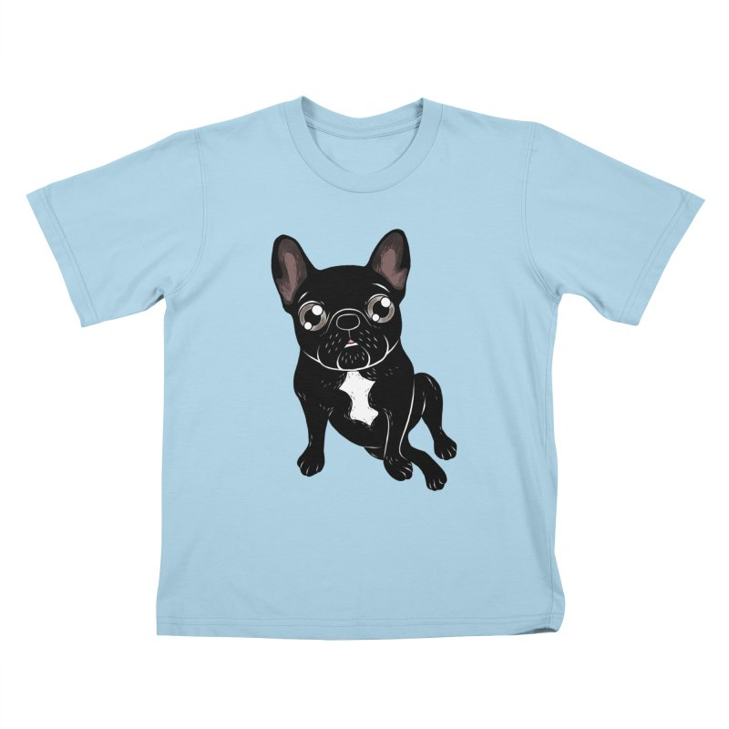 Cute brindle Frenchie is your best friend Kids T-Shirt by Emotional Frenchies - Cute French Bulldog T-shirts