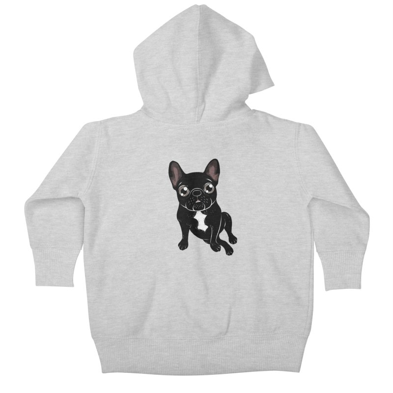 Cute brindle Frenchie is your best friend Kids Baby Zip-Up Hoody by Emotional Frenchies - Cute French Bulldog T-shirts