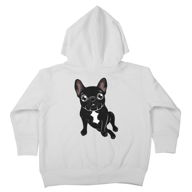 Cute brindle Frenchie is your best friend Kids Toddler Zip-Up Hoody by Emotional Frenchies - Cute French Bulldog T-shirts