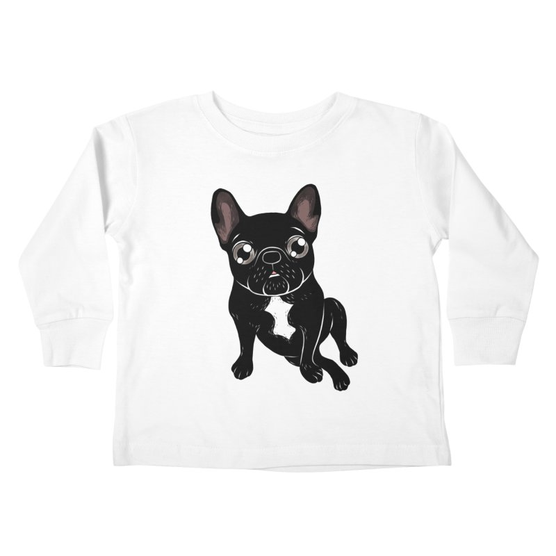 Cute brindle Frenchie is your best friend Kids Toddler Longsleeve T-Shirt by Emotional Frenchies - Cute French Bulldog T-shirts