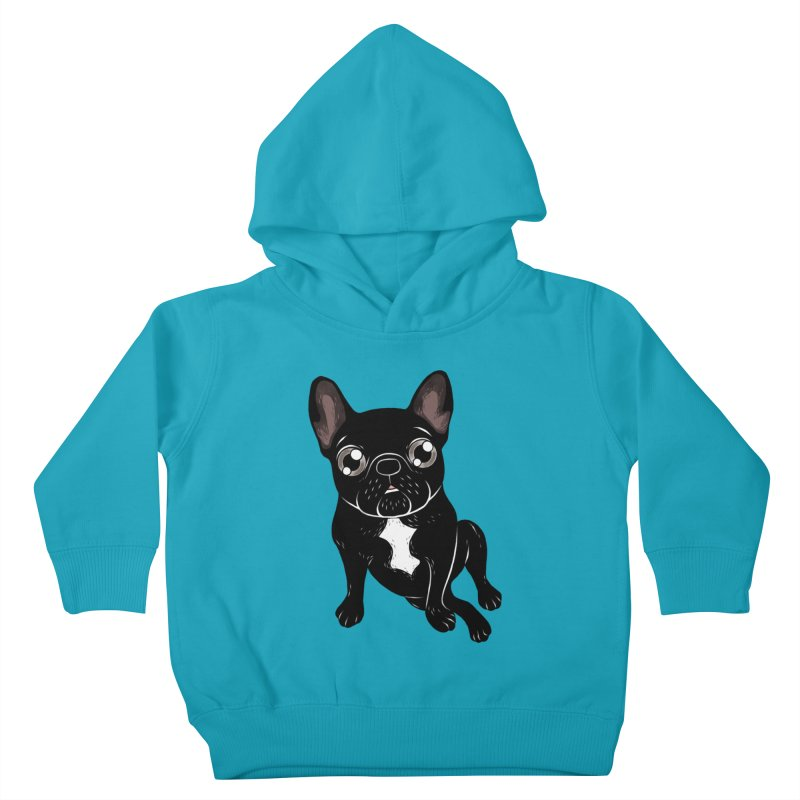 Cute brindle Frenchie is your best friend Kids Toddler Pullover Hoody by Emotional Frenchies - Cute French Bulldog T-shirts