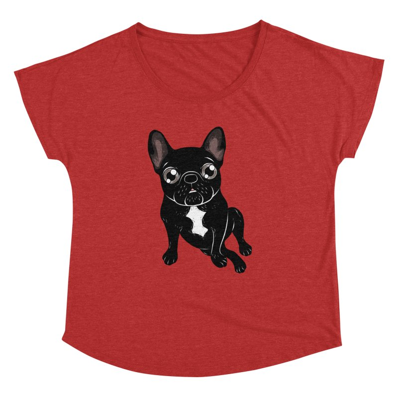 Cute brindle Frenchie is your best friend Women's Dolman Scoop Neck by Emotional Frenchies - Cute French Bulldog T-shirts