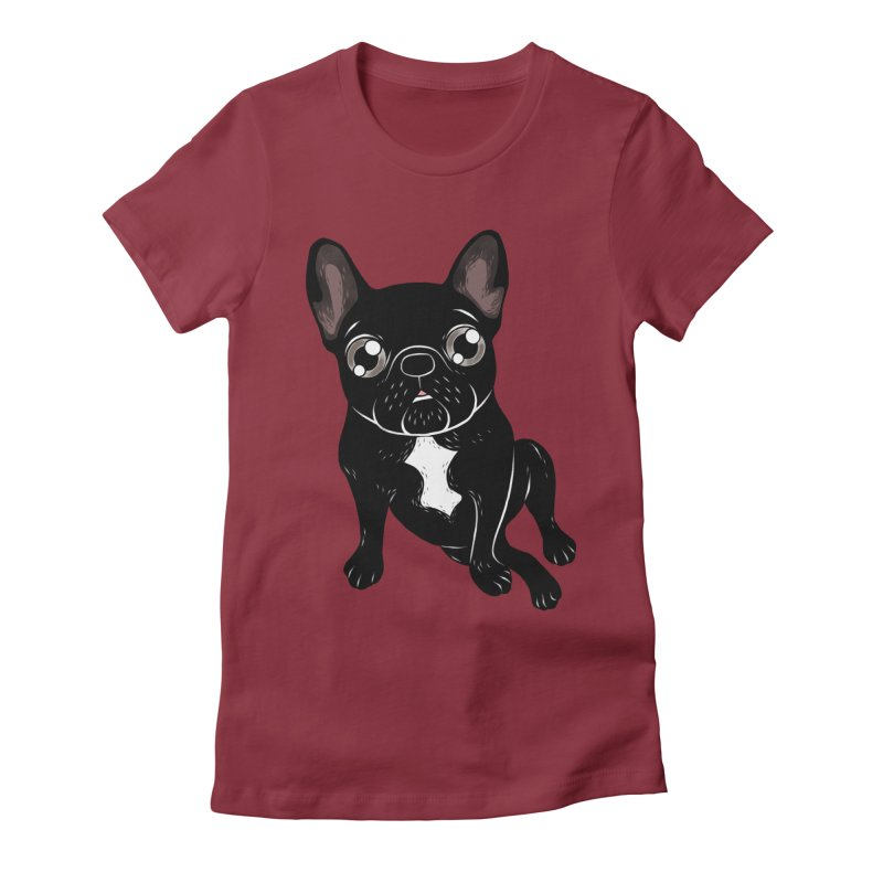 Cute brindle Frenchie is your best friend Women's Fitted T-Shirt by Emotional Frenchies - Cute French Bulldog T-shirts