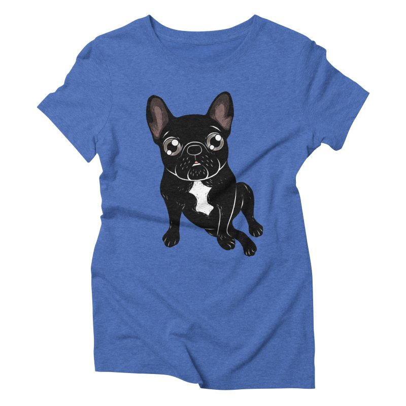 Cute brindle Frenchie is your best friend Women's Triblend T-Shirt by Emotional Frenchies - Cute French Bulldog T-shirts