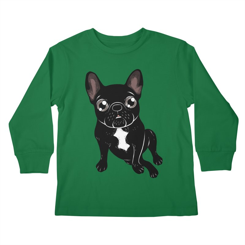 Cute brindle Frenchie is your best friend Kids Longsleeve T-Shirt by Emotional Frenchies - Cute French Bulldog T-shirts