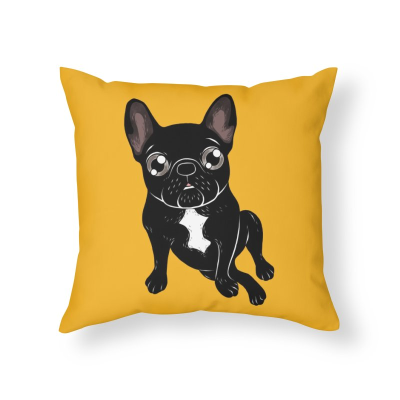 Cute brindle Frenchie is your best friend Home Throw Pillow by Emotional Frenchies - Cute French Bulldog T-shirts