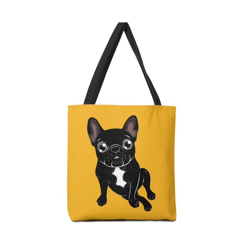 Cute brindle Frenchie is your best friend Accessories Tote Bag Bag by Emotional Frenchies - Cute French Bulldog T-shirts