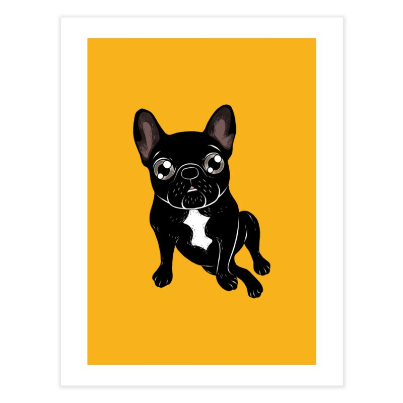 Cute brindle Frenchie is your best friend Home Fine Art Print by Emotional Frenchies - Cute French Bulldog T-shirts