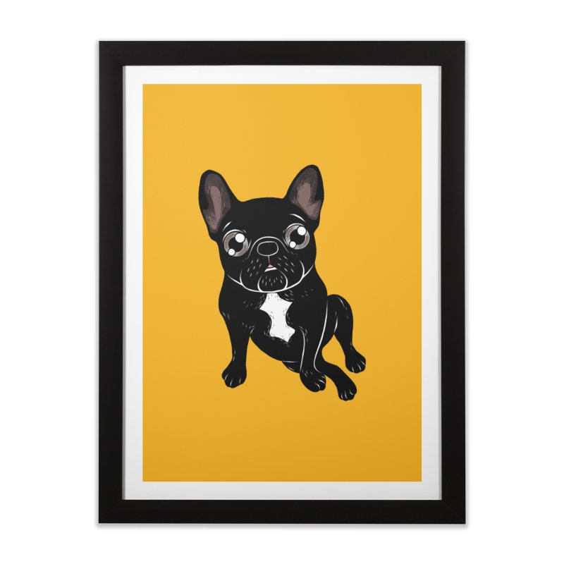 Cute brindle Frenchie is your best friend Home Framed Fine Art Print by Emotional Frenchies - Cute French Bulldog T-shirts