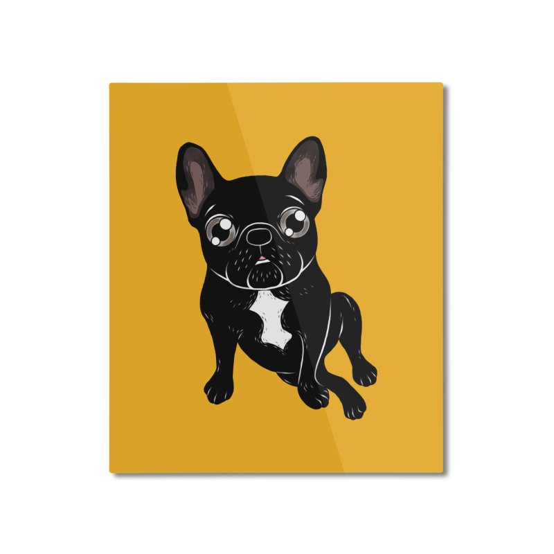 Cute brindle Frenchie is your best friend Home Mounted Aluminum Print by Emotional Frenchies - Cute French Bulldog T-shirts