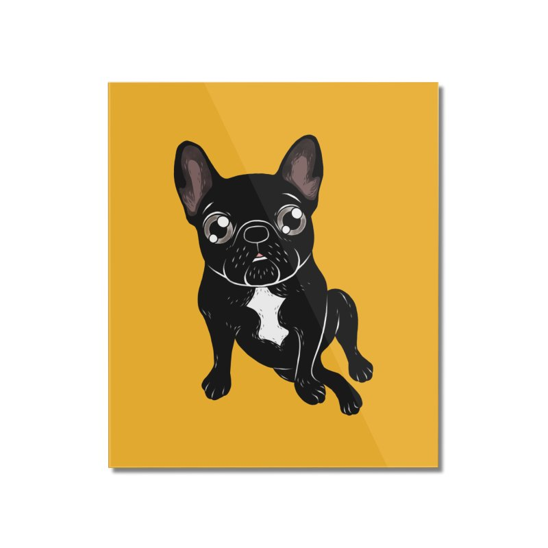 Cute brindle Frenchie is your best friend Home Mounted Acrylic Print by Emotional Frenchies - Cute French Bulldog T-shirts