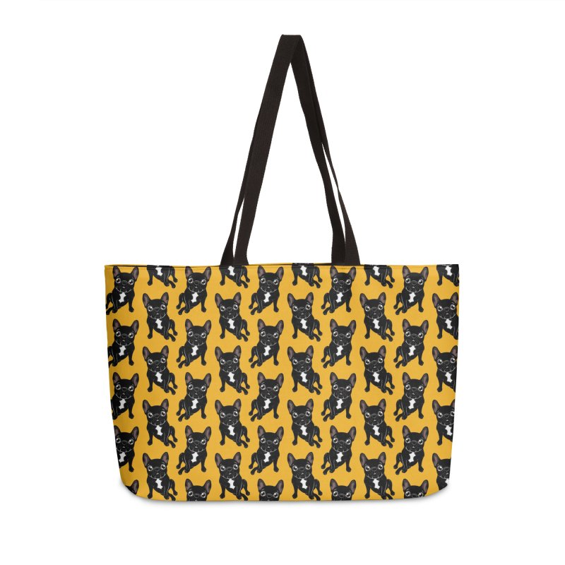 Cute brindle Frenchie is your best friend Accessories Weekender Bag Bag by Emotional Frenchies - Cute French Bulldog T-shirts